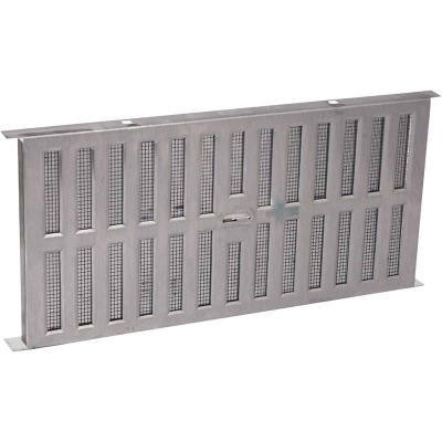 Air Vent 8 In. x 16 In. Aluminum Manual Foundation Vent with Adjustable Sliding Damper