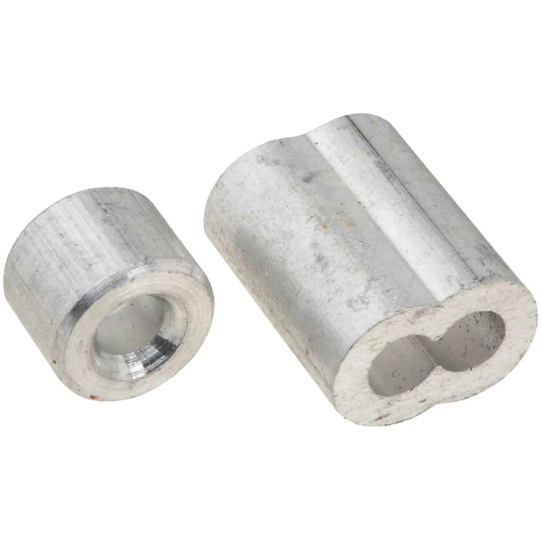 National 5/32 In. Aluminum Garage Door Ferrule & Stop Kit Image 1