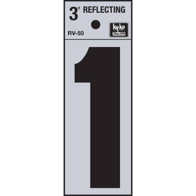 Hy-Ko Vinyl 3 In. Reflective Adhesive Number One