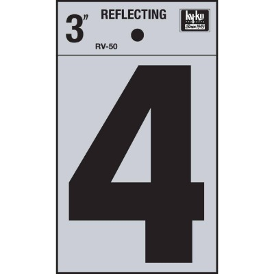 Hy-Ko Vinyl 3 In. Reflective Adhesive Number Four