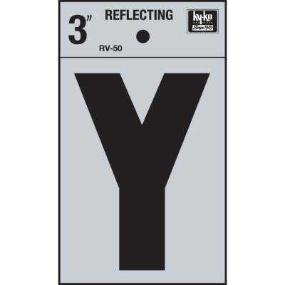 Hy-Ko Vinyl 3 In. Reflective Adhesive Letter, Y