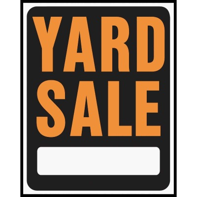 Hy-Ko Heavy Gauge Plastic Sign, Yard Sale