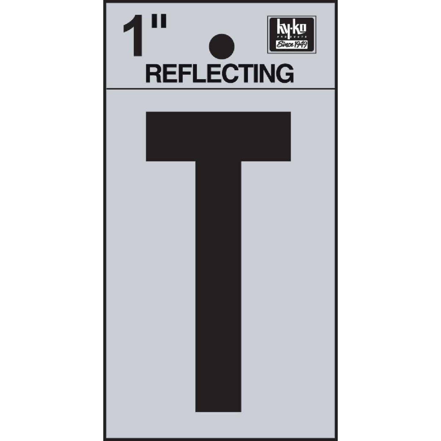 Hy-Ko Vinyl 1 In. Reflective Adhesive Letter, T Image 1