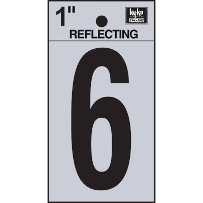 Hy-Ko Vinyl 1 In. Reflective Adhesive Number Six