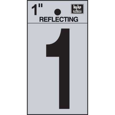 Hy-Ko Vinyl 1 In. Reflective Adhesive Number One