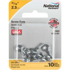 National #212 Zinc Small Screw Eye (10 Ct.) Image 2