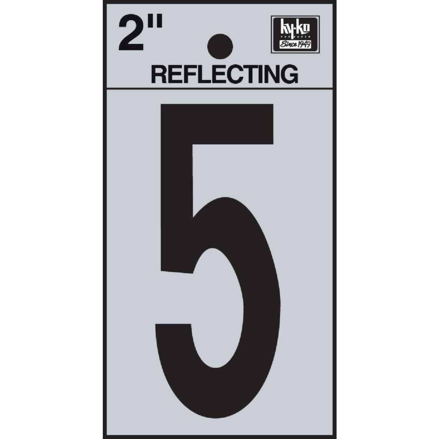 Hy-Ko Vinyl 2 In. Reflective Adhesive Number Five Image 1