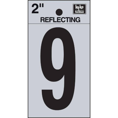 Hy-Ko Vinyl 2 In. Reflective Adhesive Number Nine