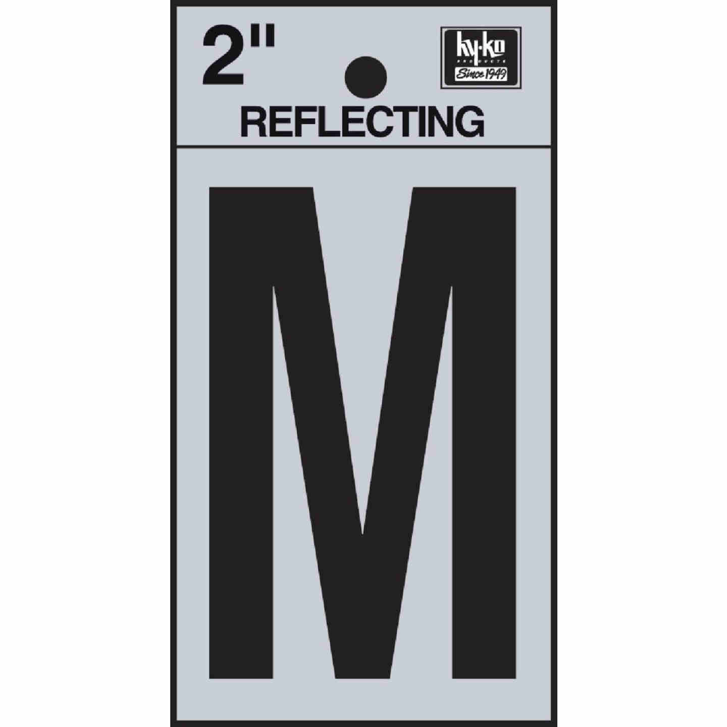 Hy-Ko Vinyl 2 In. Reflective Adhesive Letter, M Image 1