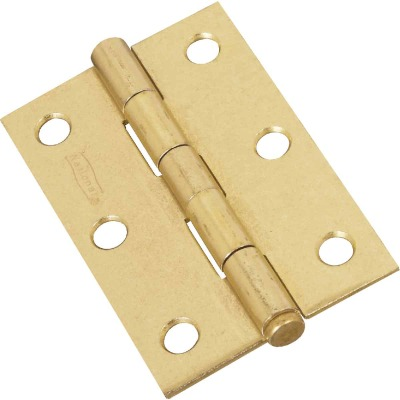National 3 In. Brass Loose-Pin Narrow Hinge (2-Pack)