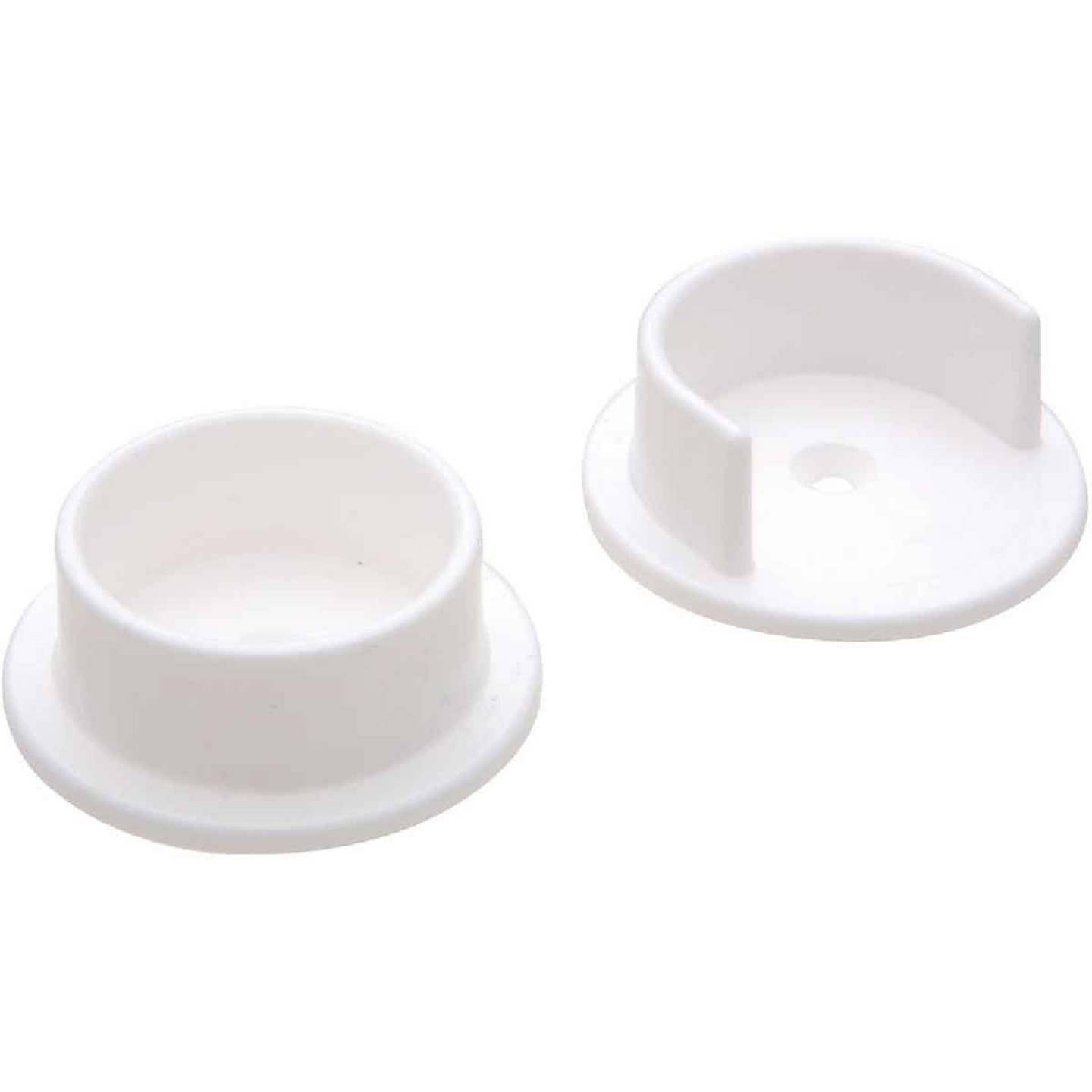 National 1-3/8 In. Plastic Closet Rod Socket, White (2-Pack) Image 1