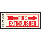Hy-Ko Vinyl Sign, Fire Extinguisher with Arrow Right Image 1