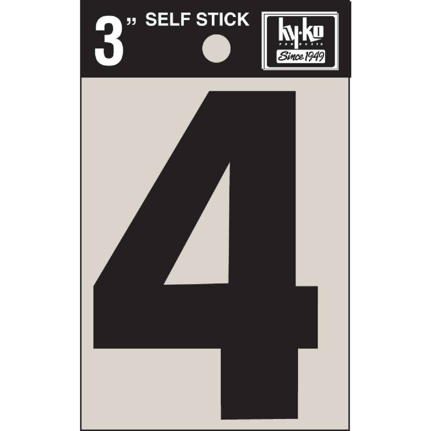 Hy-Ko Vinyl 3 In. Non-Reflective Adhesive Number Four Image 1