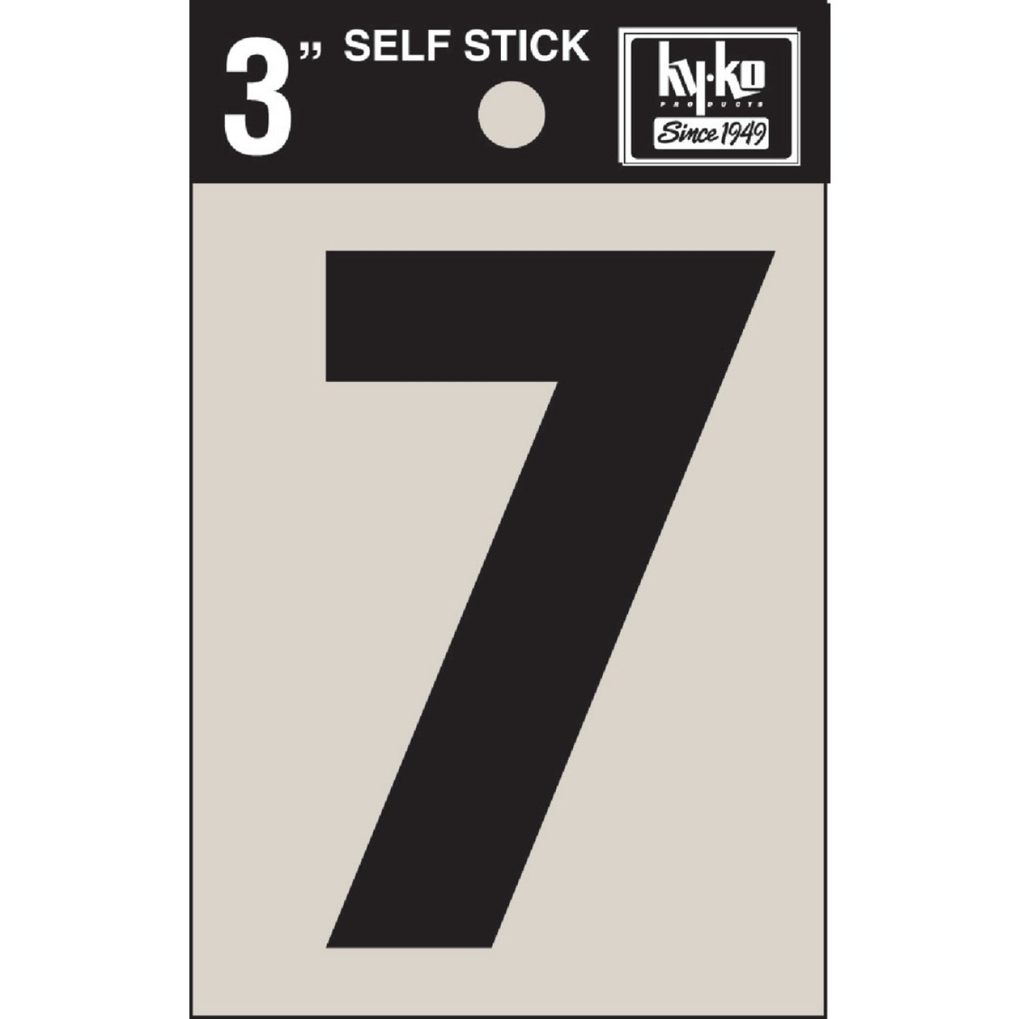 Hy-Ko Vinyl 3 In. Non-Reflective Adhesive Number Seven Image 1