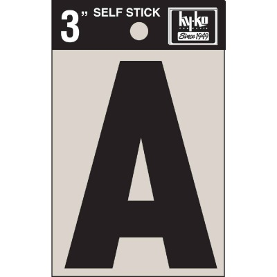 Hy-Ko Vinyl 3 In. Non-Reflective Adhesive Letter, A
