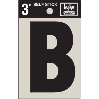 Hy-Ko Vinyl 3 In. Non-Reflective Adhesive Letter, B