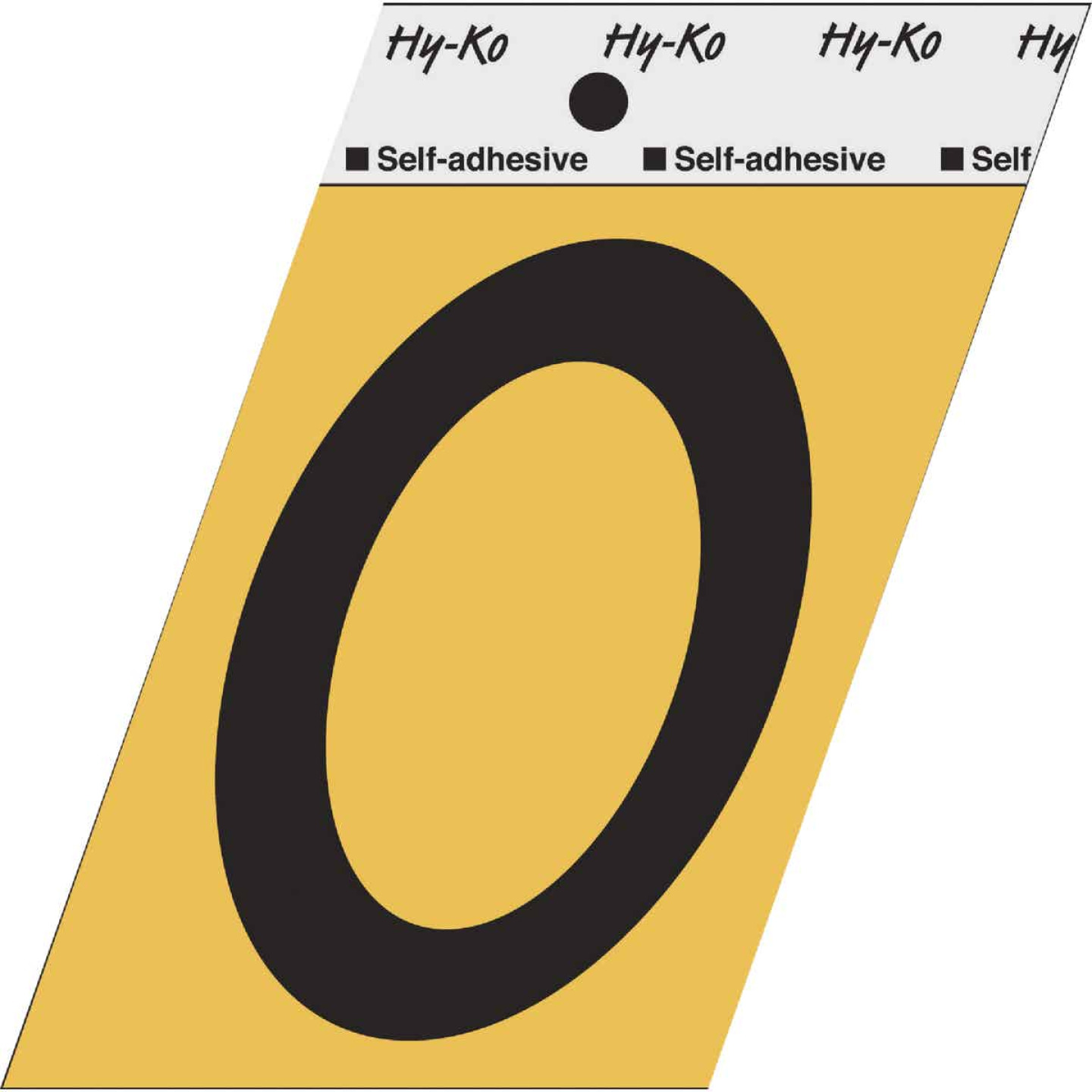 Hy-Ko Aluminum 3-1/2 In. Non-Reflective Adhesive Number Zero Image 1