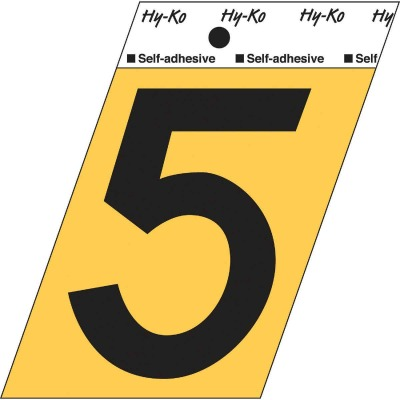Hy-Ko Aluminum 3-1/2 In. Non-Reflective Adhesive Number Five