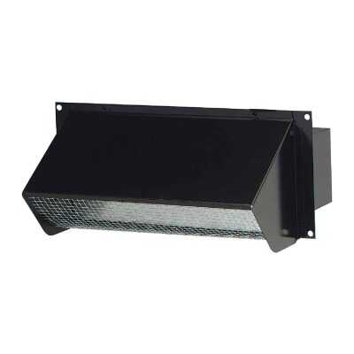 Broan-Nutone 3-1/4 In. x 10 In. Black Galvanized Steel Wall Vent Cap