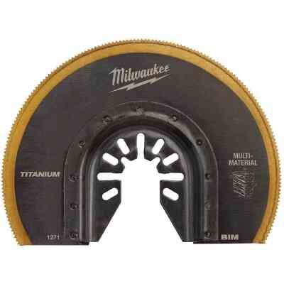 Milwaukee OPEN-Lok 3-1/2 In. Titanium Enhanced Bi-Metal Multi-Material Oscillating Blade