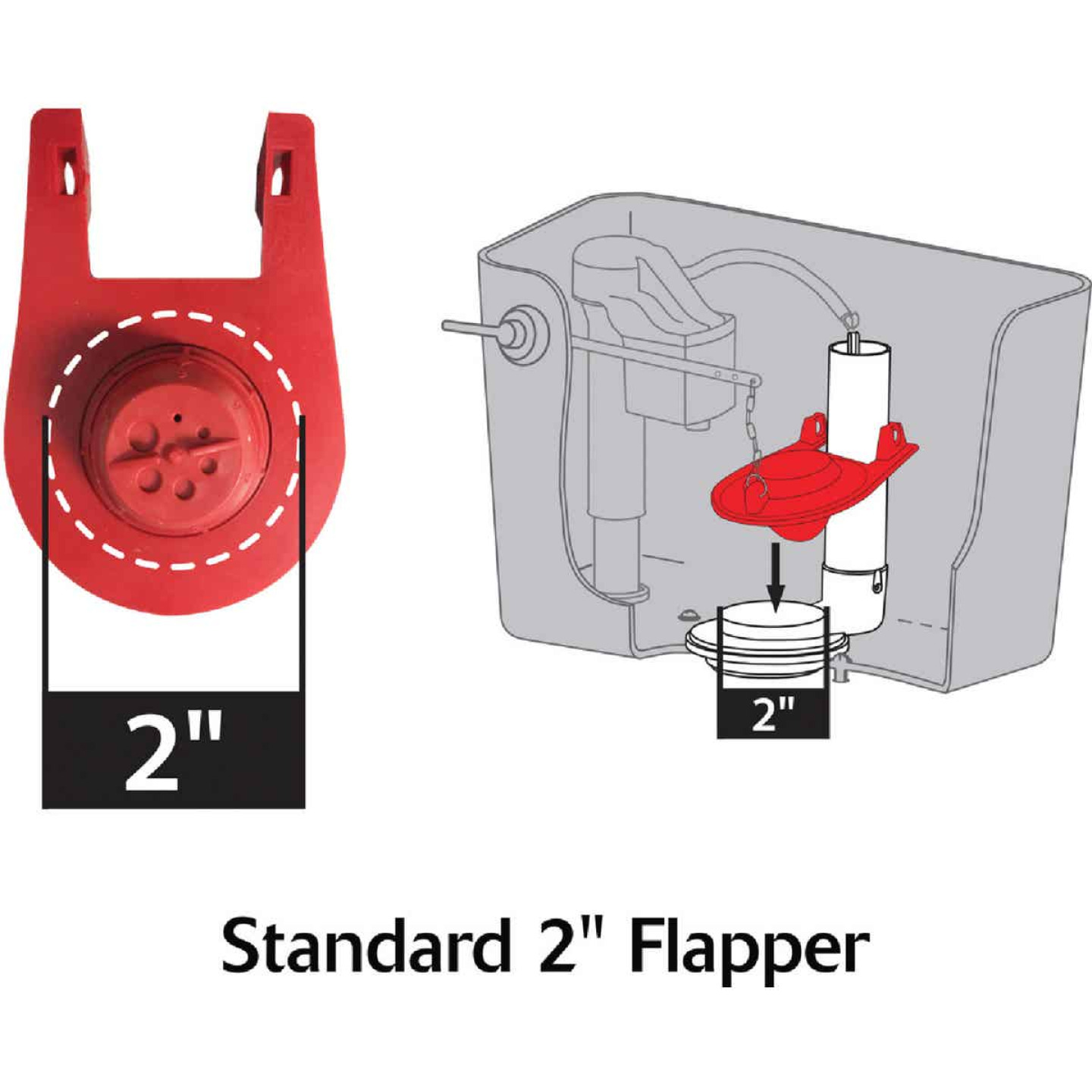 Korky Ultra Universal High Performance Red Flapper  Image 4