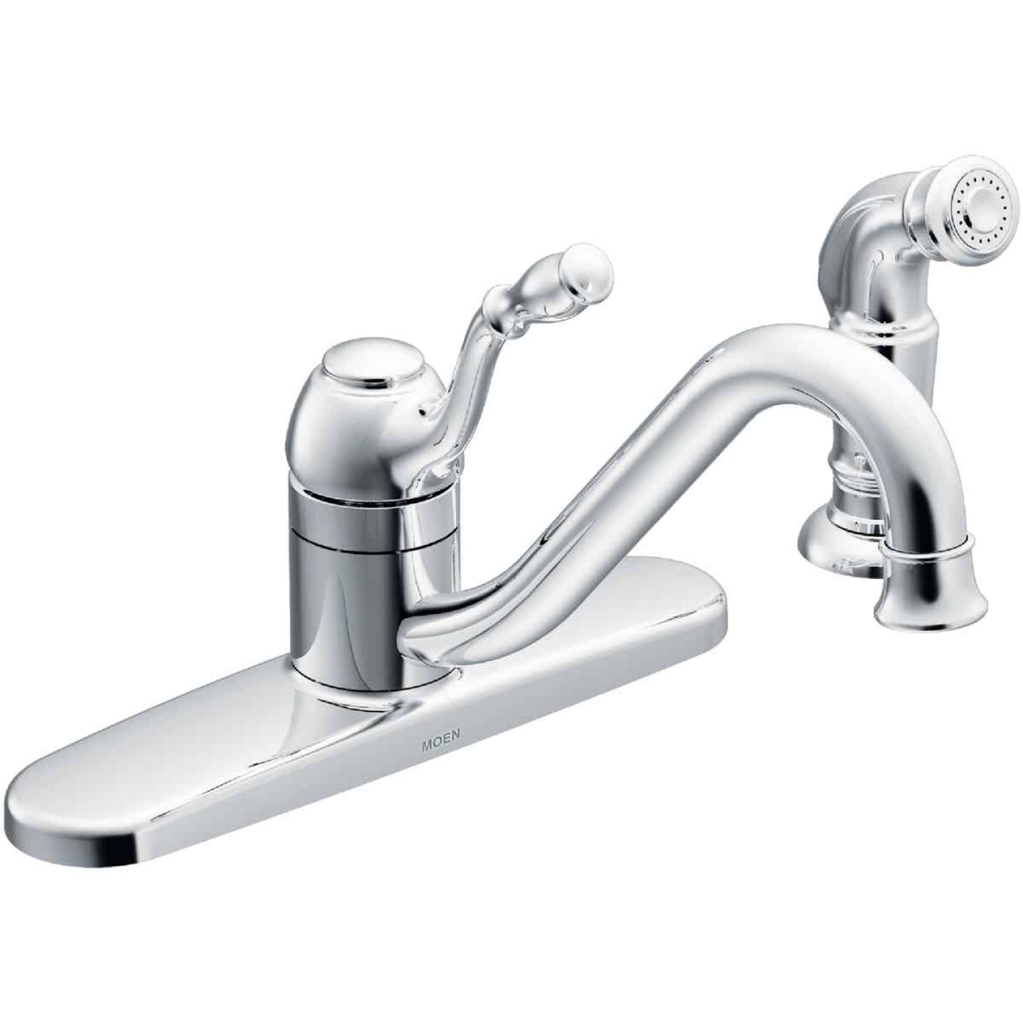 Moen Lindley Single Handle Lever Kitchen Faucet With Side Spray Chrome Niehaus Lumber