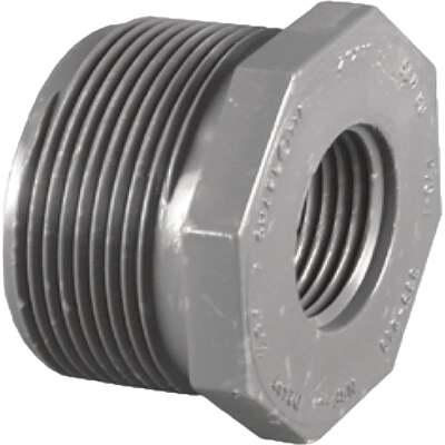 Charlotte Pipe 1-1/2 In. MPT x 1-1/4 In. FPT Schedule 80 Reducing PVC Bushing
