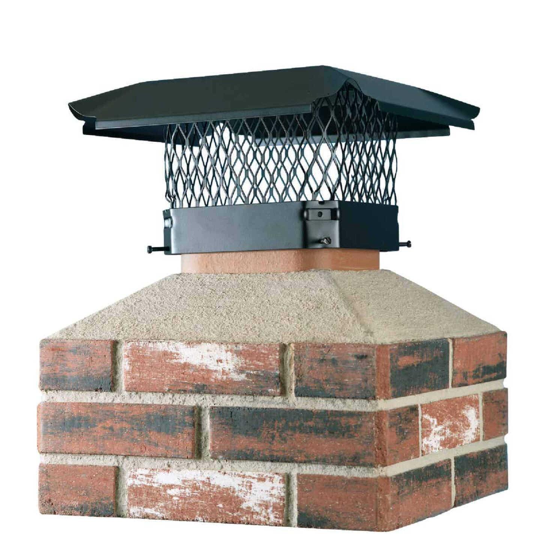 Shelter 13 In. x 18 In. Black Galvanized Steel Chimney Cap Image 1