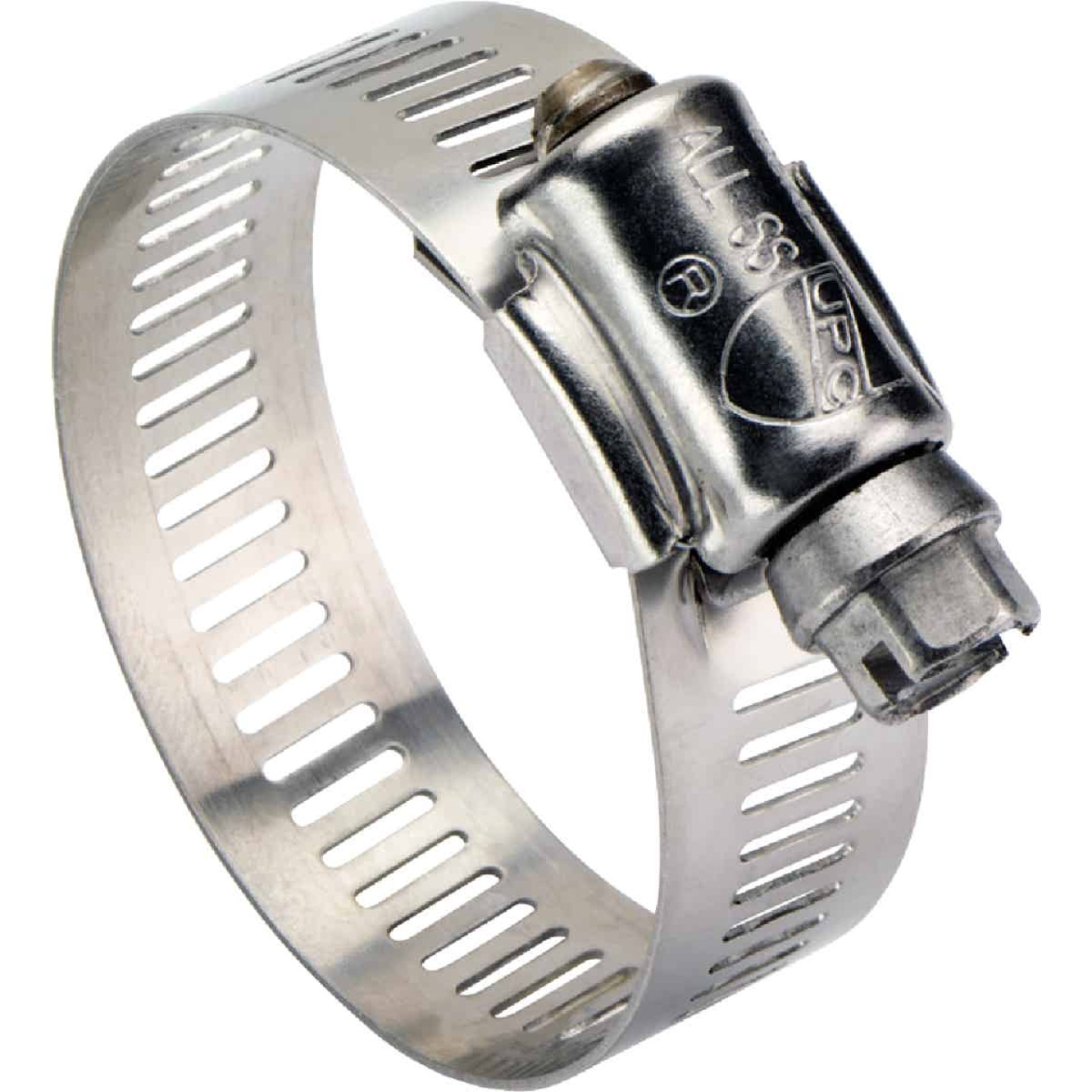 Ideal 1/2 In. - 1-1/4 In. All Stainless Steel Marine-Grade Hose Clamp Image 1