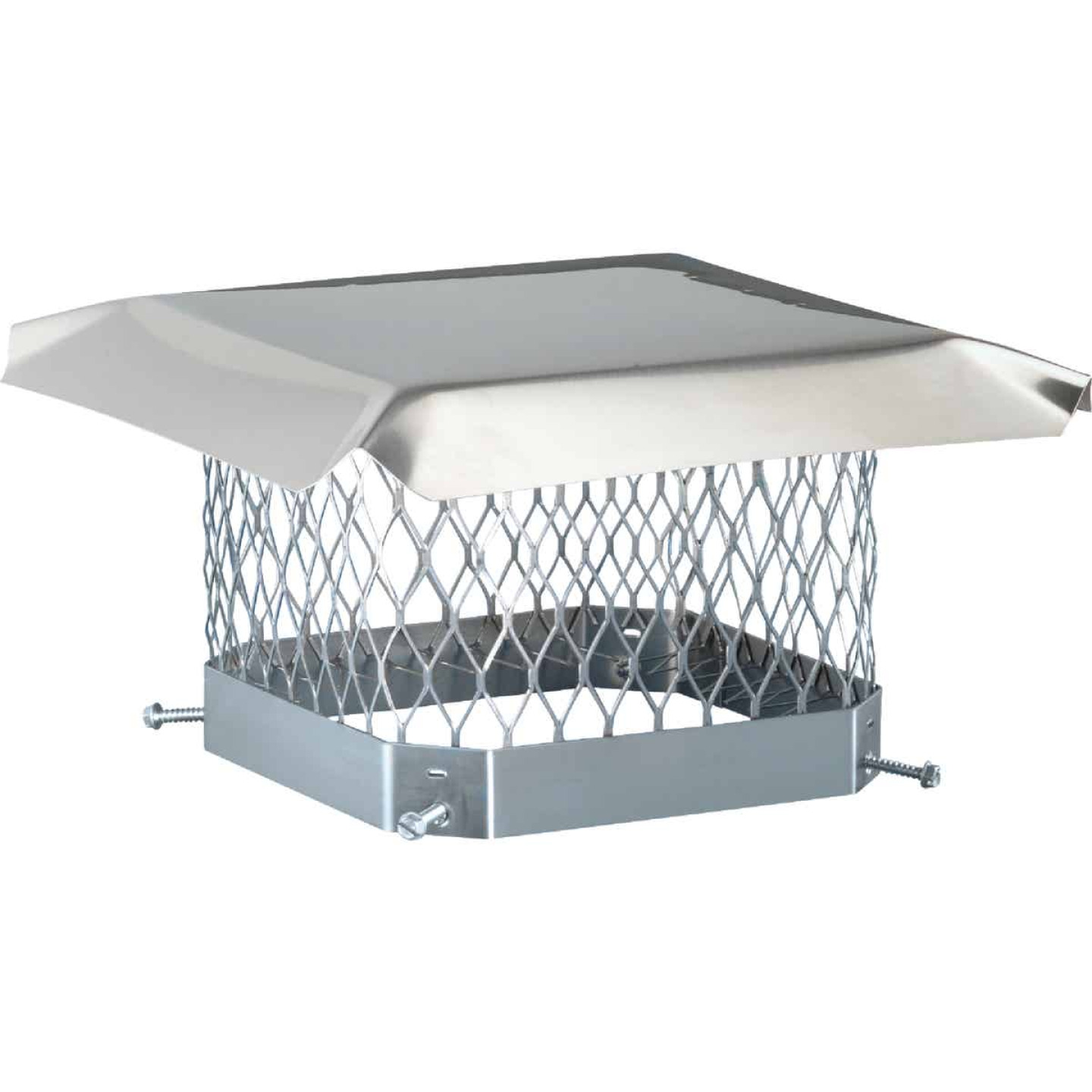 Shelter 9 In. x 13 In. Stainless Steel Single Flue Chimney Cap Image 1