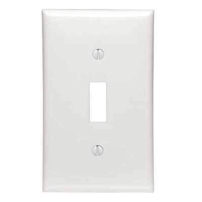 Leviton 1-Gang Thermoplastic Nylon Toggle Switch Wall Plate, White