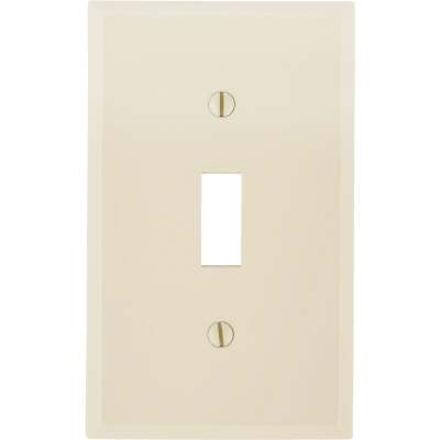 Leviton 1-Gang Thermoplastic Nylon Toggle Switch Wall Plate, Ivory