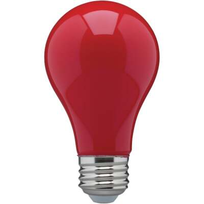 Satco Nuvo 60W Equivalent Red A19 Medium LED Party Light Bulb
