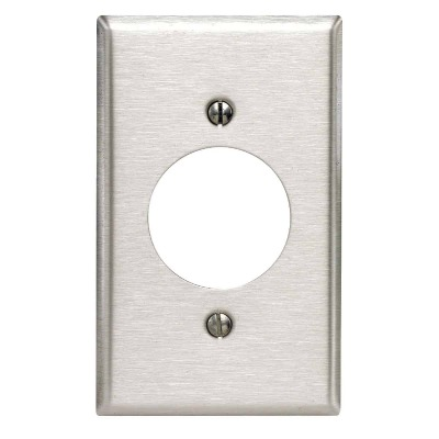 Leviton 1-Gang Stainless Steel Locking Outlet Wall Plate