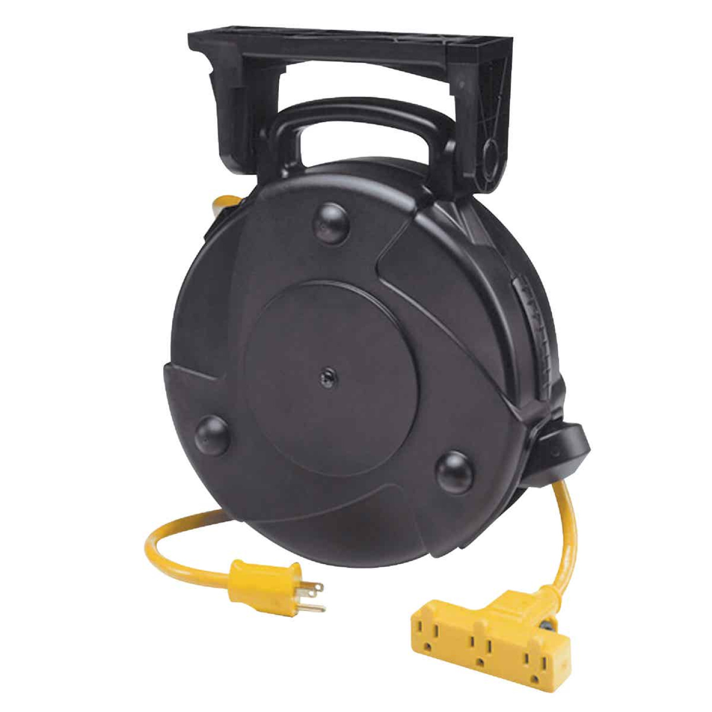 Alert Stamping 50 Ft. 14/3 Industrial Triple Tap Retractable Extension Cord Reel Image 1
