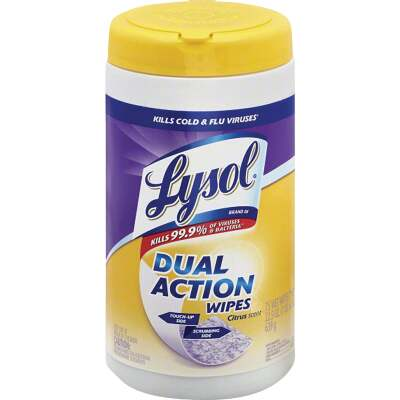Lysol Dual Action Disinfecting Wipes (75-Count)