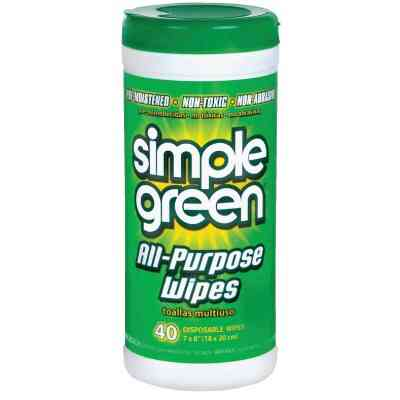 Simple Green Fresh Scent 7 In. x 8 In. Multi-Purpose Wipes (40-Count)