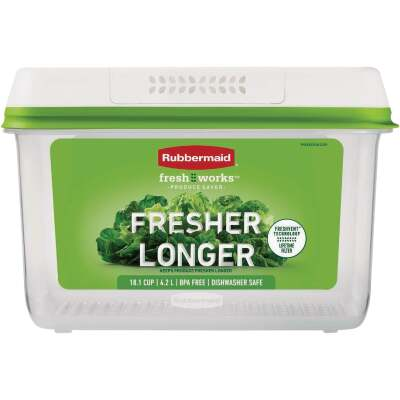 Rubbermaid FreshWorks Produce Saver Clear Large Food Storage Container