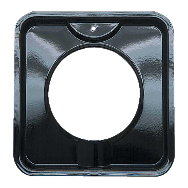 """Range Kleen Gas 4-3/8"""" Style I Square Black Drip Pan Image 1"""