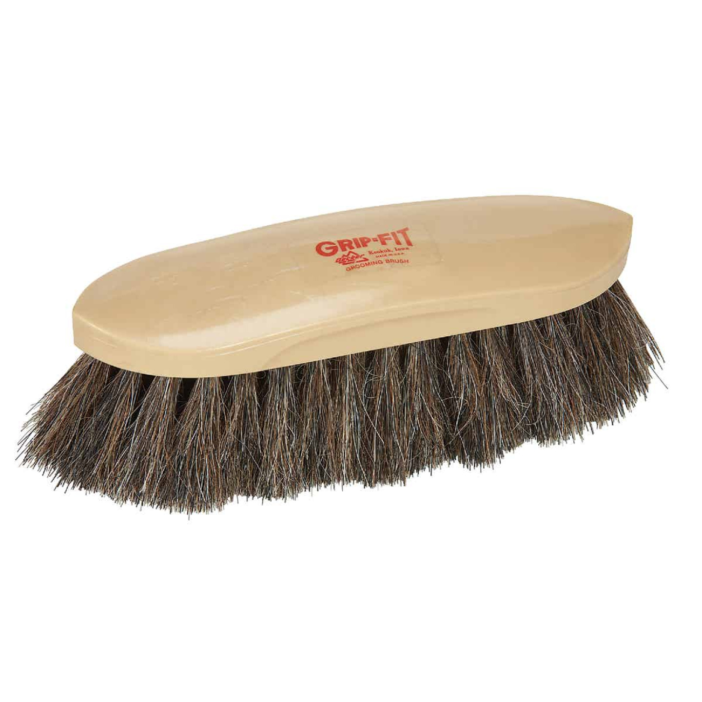 Decker Horse Hair Bristles 2 In. Trim Size Grooming Brush Image 1