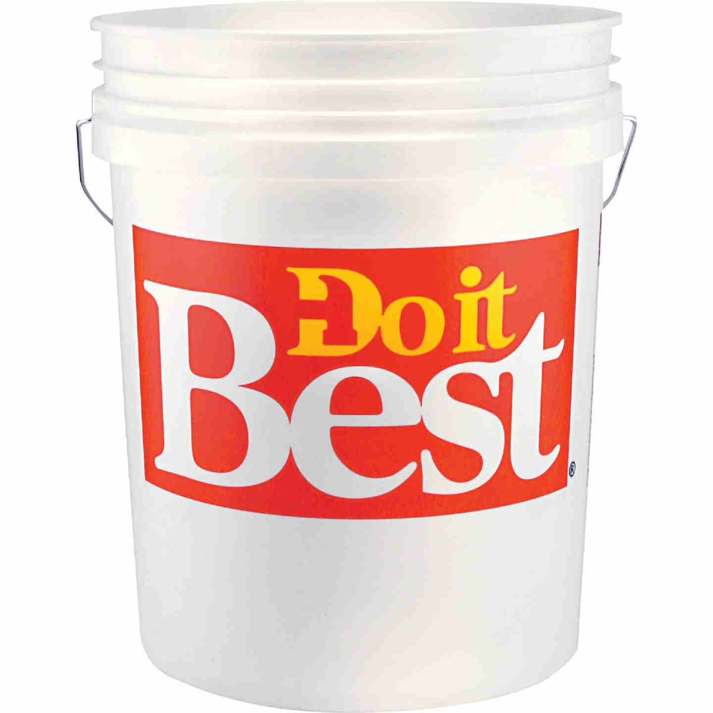 Do it Best 5 Gal. White Pail with Red Logo Image 1