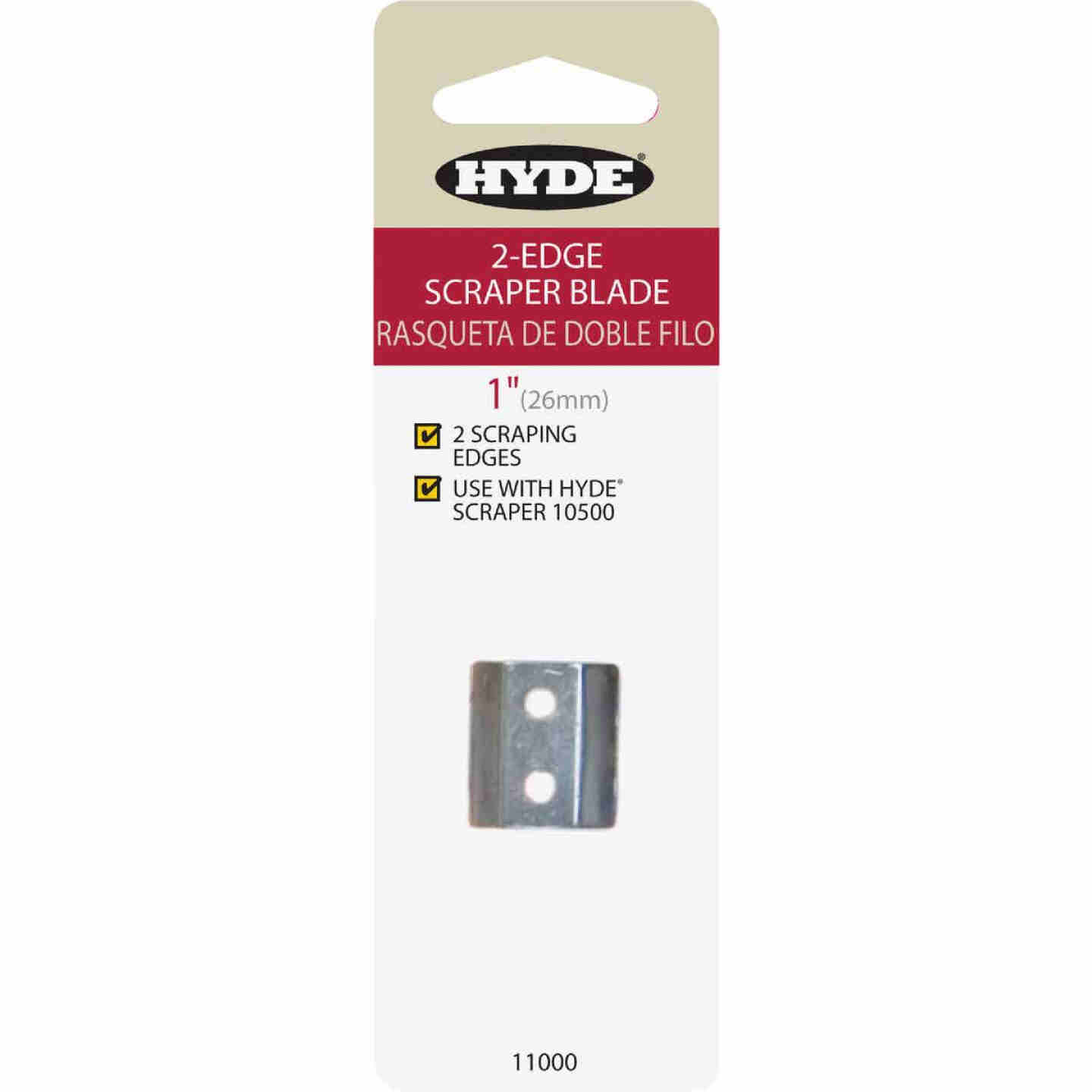 Hyde 1 In. 2-Edge Replacement Scraper Blade Image 1
